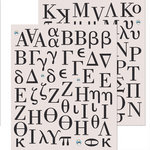 K and Company - Life's Little Occasions Collection - Die Cut Stickers with Glitter and Gem Accents - Greek Alphabet