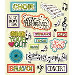 K and Company - Life's Little Occasions Collection - 3 Dimensional Stickers with Varnish Accents - Choir