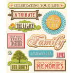 K and Company - Life's Little Occasions Collection - 3 Dimensional Stickers  with  Epoxy Accents - Life Memories