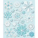 K and Company - Life's Little Occasions Collection - 3 Dimensional Stickers  with  Epoxy and Glitter Accents - Snowflakes
