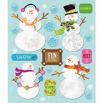 K and Company - Life's Little Occasions Collection - 3 Dimensional Stickers  with  Epoxy and Glitter Accents - Snowmen