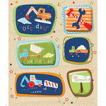 K and Company - Life's Little Occasions Collection - 3 Dimensional Stickers with Puffy and Varnish Accents - Construction