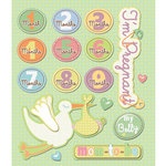 K and Company - Life's Little Occasions Collection - 3 Dimensional Stickers with Epoxy and Glitter Accents - Pregnancy