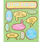 K and Company - Life's Little Occasions Collection - 3 Dimensional Stickers with Epoxy and Glitter Accents - Ultrasound