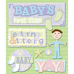 K and Company - Life's Little Occasions Collection - 3 Dimensional Stickers with Epoxy and Glitter Accents - First Step
