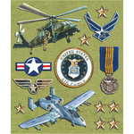 K and Company - Life's Little Occasions Collection - 3 Dimensional Stickers  with  Epoxy Accents - Air Force