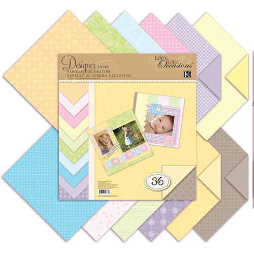 K and Company - Life's Little Occasions Collection - 12 x 12 Designer Paper Pad - Pastels