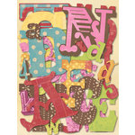 K and Company - Die Cut Cardstock Pieces - Mixed Alphabet