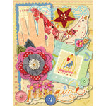K and Company - Brenda Walton - Die Cut Cardstock and Acetate Pieces - Olivia Rose, CLEARANCE