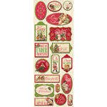 K and Company - Yuletide Collection - Christmas - Adhesive Chipboard with Glitter Accents - Icons, CLEARANCE