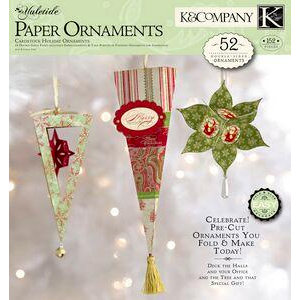 K and Company - Yuletide Collection - Christmas - 12 x 12 Paper Pad - Ornaments Crafting Kit