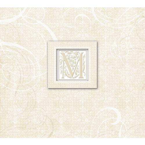 K and Company - 12 x 12 Scrapbook Album - Wedding Elegant Scrolls