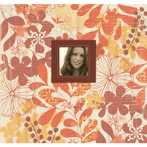 K and Company - 12 x 12 Scrapbook Album - Orange Marmalade