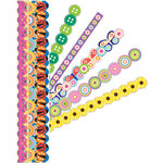 K and Company - Adhesive Paper Borders with Glitter Accents - Summer Brights, CLEARANCE
