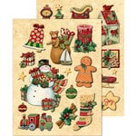 K and Company - Glad Tidings Collection - Christmas - Adhesive Chipboard with Glitter Accents - Icons