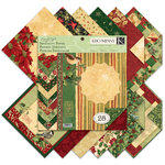 K and Company - Glad Tidings Collection - Christmas - 12 x 12 Specialty Paper Pad with Varnish Accents