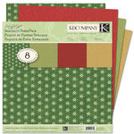 K and Company - Glad Tidings Collection - Christmas - 12 x 12 Specialty Paper Pack with Flocked and Glitter Accents, CLEARANCE