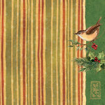 K and Company - Glad Tidings Collection - Christmas - 12 x 12 Paper with Varnish Accents - Holly and Stripes