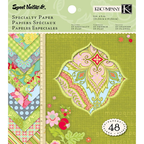K and Company - Sweet Nectar Collection - 6 x 6 Specialty Paper Pad