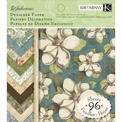 K and Company - Julianne Collection - 6 x 6 Designer Paper Pad, CLEARANCE