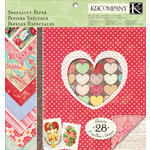 K and Company - Valentine Collection - 12 x 12 Specialty Paper Pad - Sweetheart