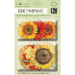 K and Company - Cottage Garden Collection by Tim Coffey - Layered Accents with Glitter Accents - Warm Mix