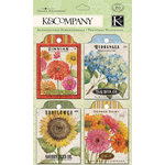 K and Company - Cottage Garden Collection by Tim Coffey - Journal Pockets - Seed Packet
