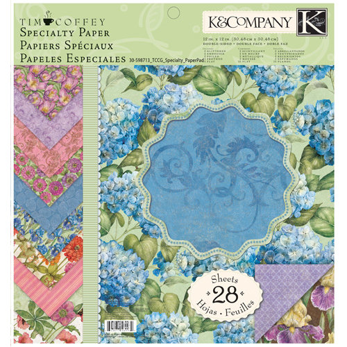K and Company - Cottage Garden Collection by Tim Coffey - 12 x 12 Specialty Paper Pad