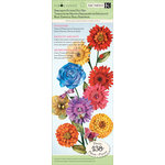 K and Company - Cottage Garden Collection by Tim Coffey - Specialty Punch Out Paper Pad with Glitter Accents - Flower, CLEARANCE