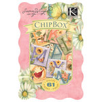 K and Company - Spring Blossom Collection - Chipboard Box with Glitter Accents - Alphabet