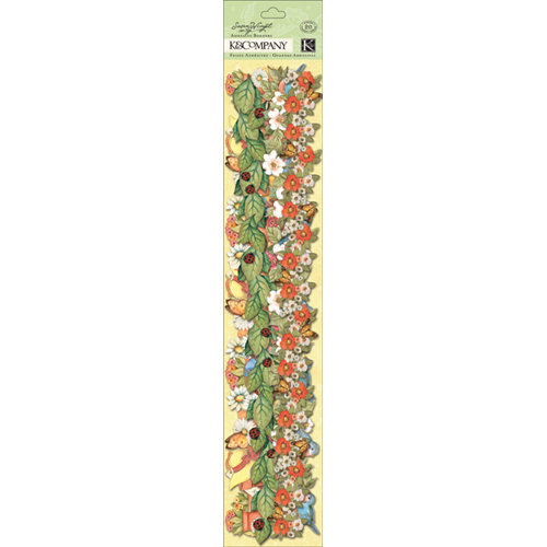 K and Company - Spring Blossom Collection - Adhesive Borders with Glitter Accents - Icon