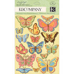 K and Company - Spring Blossom Collection - Grand Adhesions with Glitter Accents - Butterfly