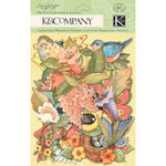 K and Company - Spring Blossom Collection - Die Cut Cardstock and Acetate Pieces with Glitter Accents - Icons