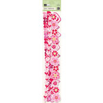 K and Company - Valentine Collection - Adhesive Borders with Glitter Accents - Icon