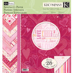 K and Company - Valentine Collection - 12 x 12 Specialty Paper Pad, CLEARANCE
