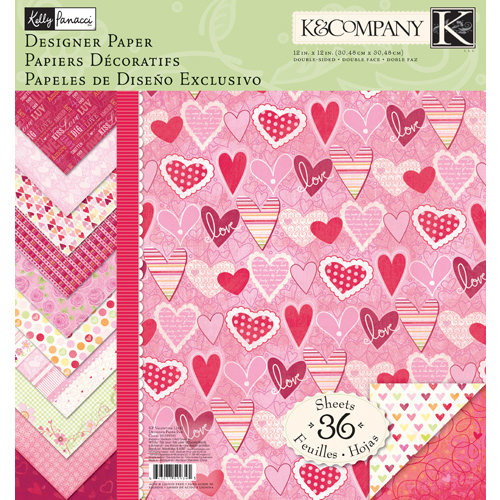 K and Company - Valentine Collection - 12 x 12 Designer Paper Pad