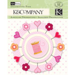 K and Company - Valentine Collection - Decorative Pins
