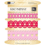 K and Company - Valentine Collection - Adhesive Paper Ribbon
