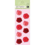 K and Company - Valentine Collection - Fabric Art - Felt Roses