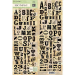 K and Company - Flora and Fauna Collection - Die Cut Stickers - Alphabet