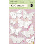 K and Company - Flora and Fauna Collection - Vellum Stickers with Foil Accents - Butterfly, CLEARANCE
