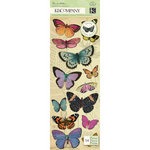 K and Company - Flora and Fauna Collection - Adhesive Chipboard - Butterfly, CLEARANCE