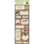 K and Company - Flora and Fauna Collection - Embossed Stickers - Labels and Words