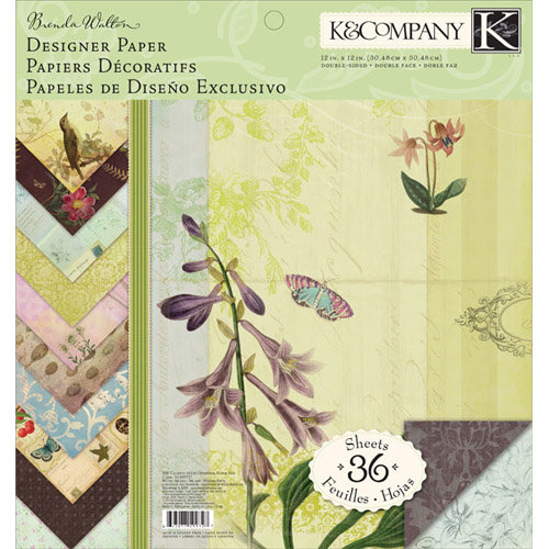 K and Company - Flora and Fauna Collection - 12 x 12 Designer Paper Pad