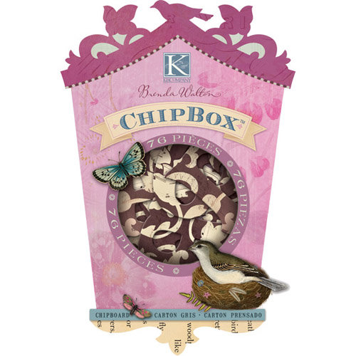 K and Company - Flora and Fauna Collection - Chipboard Box with Glitter Accents - Alphabet