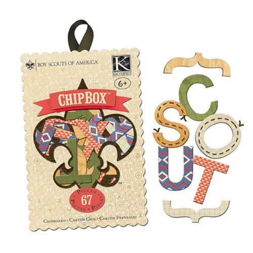 K and Company - Boy Scouts of America Collection - Chipboard Box with Stitched Accents - Alphabet