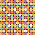 K and Company - Confetti Collection - 12 x 12 Paper - Bright Polka Dots