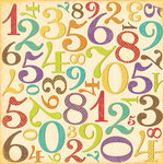 K and Company - Confetti Collection - 12 x 12 Paper - Numbers