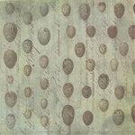 K and Company - Flora and Fauna Collection - 12 x 12 Paper - Aqua Eggs
