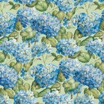 K and Company - Cottage Garden Collection by Tim Coffey - 12 x 12 Paper with Glitter Accents - Hydrangea
